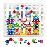 Bloque Construcción Rompecabezas Bricolaje de Juguetes Educativos de Juego Creativos Bricolaje Juguete de Mosaico con Rejilla para Niños 3 4 5 años