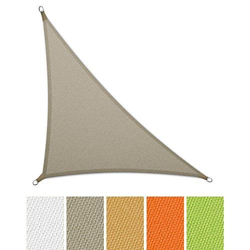 casa pura® Sonnensegel wasserabweisend imprägniert | Dreieck | UV Schutz | verschiedene Farben und Größen (grau, 3,6 x 3,6 x 5,1 m)