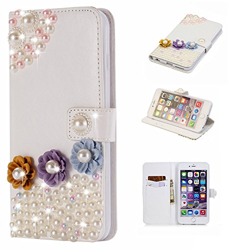 (for Xiaomi Redmi Note 5 (International Edition)) Flip Wallet Case Cover and 360 Degree Full Body Protective Bumper Cover, Premium Excellence Material - Three Flowers