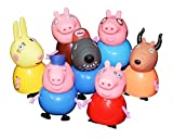 #2: Kiditos Peppa Pig Figure Family & Friends Play Set Toy - 7/pcs