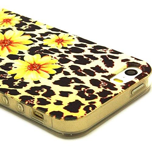 Ancerson tasca posteriore per cellulare, in TPU morbido per Apple iPhone 5/5S/5G colorati in pittura ad olio Stil Colorful Painting Back Case Cover Custodia protettiva Custodia 11 05