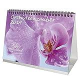 Orchideenzauber · DIN A5 · Premium Tischkalender/Kalender 2019 · Orchidee · Phalaenopsis · Blume · Schmetterling · Natur · Set 1 Grußkarte & 1 Weihnachtskarte · Edition Seelenzauber