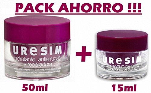 URESIM Pack duo Crema hidratante, antiarrugas y reparadora + Contorno de ojos