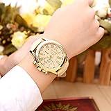 Hot Sale Valentine Gift Womens Geneva Leather Analog Quartz Roman Numerals Watch