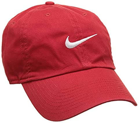 Nike Heritage 86 Swoosh Classic Casquette Mixte Adulte, University Red/Blanc, FR : Taille Unique (Taille Fabricant : Taille Unique)