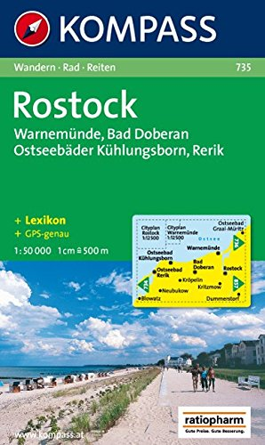 Rostock, Warnemünde, Bad Doberan: 1:50.000, Wandern / Rad / Reiten. Mit Cityplänen Rostock und Warnemünde. 1 : 12 500. GPS-genau