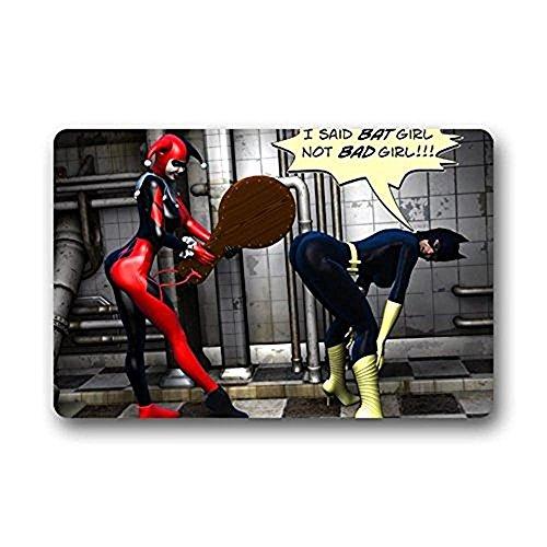 Harley Quinn Batman Joker Custom lavabile zerbino porta arredamento cucina all' aperto 59,9x 39,9cm bagno tappeto/zerbino 59,9x 39,9cm