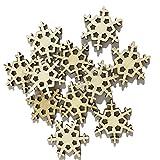 Qinlee 50x Holz Scheiben DIY Handwerk Kunst Ornament Natur Holzspäne Verzierungen Hängen Anhänger Tags Dekoration Für Hochzeit Weihnachten Garten Party