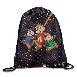 Alvin And The Chipmunks Theodore And Simon Drawstring Backpack Sack Bag