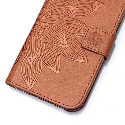 Hülle geprägte Wallet Apple Folio Sta Campanula Das Schutzhülle 5 Case Iphone Kunstleder Für Cover Tasche Flip 5s Hülle 3 Etui Handyhülle Pu Leder Se aRSFWnx