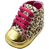 Zehui Lovely Warm Soft Baby Infant Toddler Boy Girl Leopard Shoes 0-18 Month