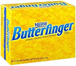 Butterfinger Single, Schokoriegel (Packung mit 36)
