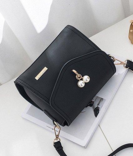 WanYang Donna Borsa Quadrata Piccola Eleganti Mini Borsa A Tracolla Borse A Spalla Per Partito E Shopping Nero