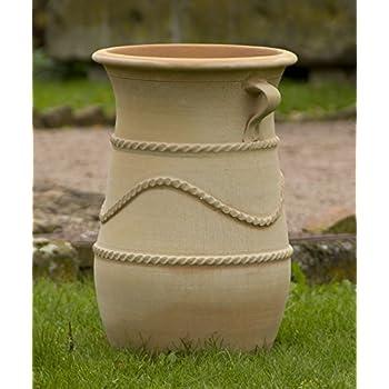 hochwertige gro e terracotta amphore 100 cm frostbest ndige handgefertigte vase mediterrane. Black Bedroom Furniture Sets. Home Design Ideas