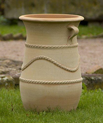 Kreta-Keramik | mediterrane Terracotta Amphore mit Henkel | 60 cm | frostfeste Keramik aus Kreta Deko Garten Außenbereich Innen Terrasse | Cistus