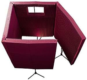 Accessoires home studio AURALEX ACOUSTICS MAXWALL 1141VB BURGUNDY CABINE DE PRISE DEMONTABLE BURGUNDY Traitement sur pied