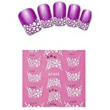 French Nail Art Stickers - TOOGOO(R)New 3D Transfer Lace Design Nail Art Stickers Women Fashion Manicure Nail Polish Decals Tips Makeup-XF866