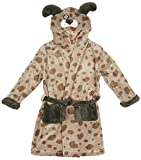 Girls Boys Novelty Puppy Dog Hooded Dressing Gown with Ears sizes from 2 to 11 Years