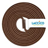 Thin Elegant Round Waxed Shoelaces Diameter 2 mm Colour:Medium Brown Length:90 cm
