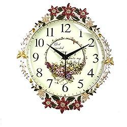 #horloge Horloge En Bois Rétro Horloge Horloge De Table Silence Cloche Chambre Salon Décoration Magnifiquement Sculpté Horloge De Luxe Qualité réveille-matin (Color : B)