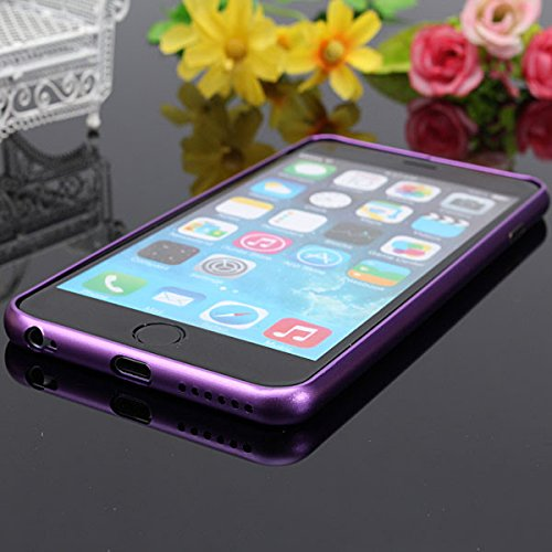 Ultra Bumper Frame Case Thin Slim Aluminium Metal For iPhone 6 bleu clair