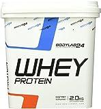 Bodylab24 Whey Protein Eiweißpulver, Geschmack: Banane , hochwertiges Proteinpulver, Low Carb Eiweiß-Shake für Muskelaufbau und Fitness, 2000g