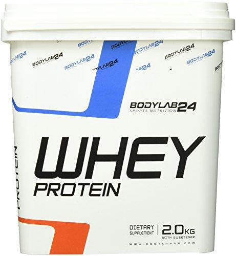 Bodylab24 Whey Protein Eiweißpulver, Geschmack: Banane , hochwertiges Proteinpulver, Low Carb Eiweiß-Shake für Muskelaufbau und Fitness, 2000g - Carb Whey-protein-pulver