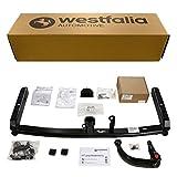 Westfalia Abnehmbare Anhängerkupplung für A6 Avant (BJ 03/2005-09/2011), A6 Limousine (BJ 04/2004-03/2011) im Set mit 13-poligem fahrzeugspezifischen Elektrosatz