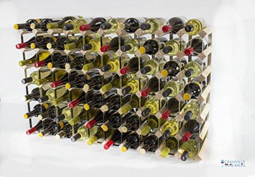 Classique en bois de pin 70 de la bouteille et le vin en métal galvanisé en rack prêt assemblé