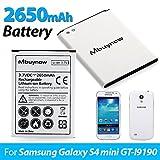 Mbuynow 2650mAh Li-ion Batterie Rechargeable Batterie de Remplacement de Haute Capacité pour Samsung Galaxy S4 mini GT-i9190 i9195