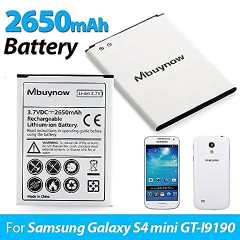 Samsung Galaxy S4 Mini - Mbuynow 2650mAh Li-ion Batterie rechargeable Batterie de