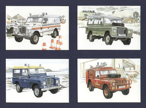 Land Rover Legends Series 3Postkarten Siii-serie