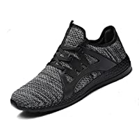 Sunny Holiday Men Trainers Running Sports Shoes Breathable Causal Trainers Soft Gym Shoes Travel Walking Sneakers Teenagers Athletic Shoes, Grey, 6.5 UK, EU 40
