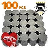 X-bet MAGNET ™ - Imanes industriales de cerámica - Disco redondo de 18 mm - Imanes de ferrite Masa para la artesianias, ciencias y aficiones – 100 piezas en caja!