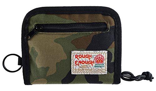 Rough Enough Nylon Geldbeutel Reißverschluss Herren Männer Damen Kartengeldbörse Geschenk für Männer Geschenke für Die Mädchen Kinder Junge Jungen Teenager Brieftasche Reisen Slim Wallet for Men Kids -