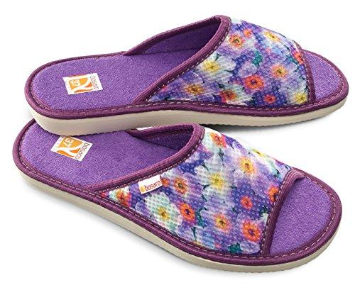 Pantofole Da Donna Bosaco Viola Termico 1