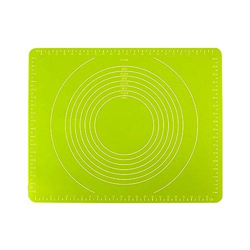 CHUANGCHUANG Große Haushalt Verdicken Kneten Matten Silikonmatten Und Matten Backen Rutschfeste Panels Kneten Pad Panel Schneidebrett Sticky (Farbe : Grün)
