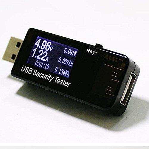 Gzq USB multimètre Digital Power Mobile testeur Mètre de batterie compatible avec Qc2.0/Qc3.0–Test courant (A) Tension (V) d'énergie (WH) résistance (& # X3a9;) Capacité (mAh) et de puissance (L)
