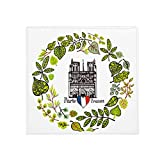 DIYthinker Notre Dame Catedral Paris France - Alfombrilla Antideslizante para Mascota, Cuadrada, 80 cm, Ideal como Regalo