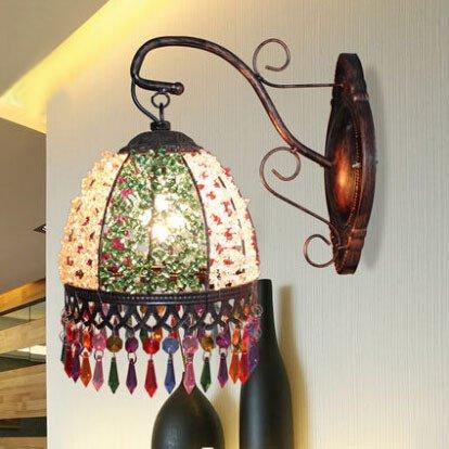 5151BuyWorld European Style Retro-Lampen-Wand-Badezimmerspiegel Frontleuchte Single Head American Classic Aisle Schlafzimmer Metall-Leuchter [weiß] -