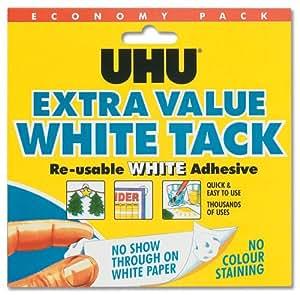 UHU White Tack Mastic Adhesive Non-staining Economy Size Ref 043511