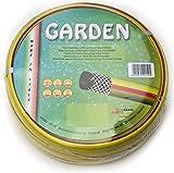 Tubo gomma giardino canna acqua 1/2' x 50 mt MADE IN ITALY rinforzato irrigazione casa orto giardino cantiere.