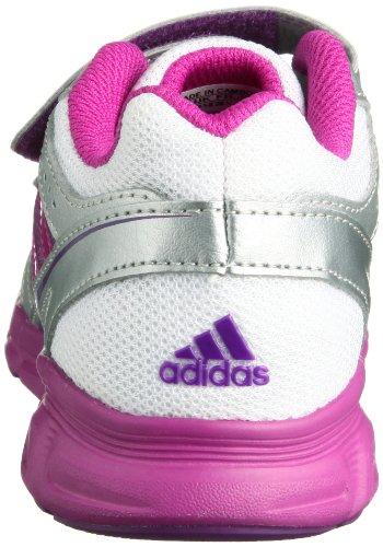 adidas Performance HyperFast CF D66061 Unisex-Kinder Laufschuhe Mehrfarbig (Running White FTW/Vivid Pink S13/Metallic Silver)
