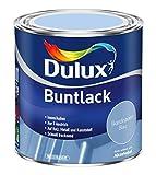 Dulux Buntlack Glänzend Wasserbasiert für Innen/Außen auf Holz, Metall und Kunststoff (500 ml, Skandinavien Blau)