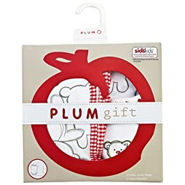 Plum Collections Baby Wickeldecke Wrap und All-in-One Body Teddy Bär Design (2Stück)