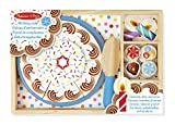 Melissa & Doug Birthday Party Cake - Wooden Play Food With Mix-n-Match Toppings and 7 Candles