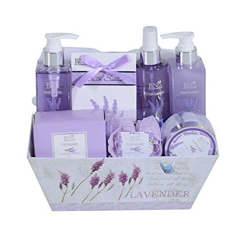Homcom® 5/8-teiliges Wellness-Set Weihnachten Geschenkset Badeset Dusch Geschenk Pflegeset Körperpflege (Type A)