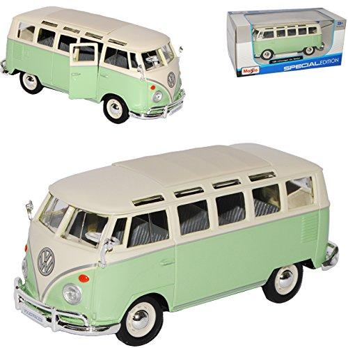 alles-meine.de GmbH VW Volkswagen T1 Grün Weiss Samba Bully Bus 1950-1967 1/25 1/24 Maisto Modell Auto