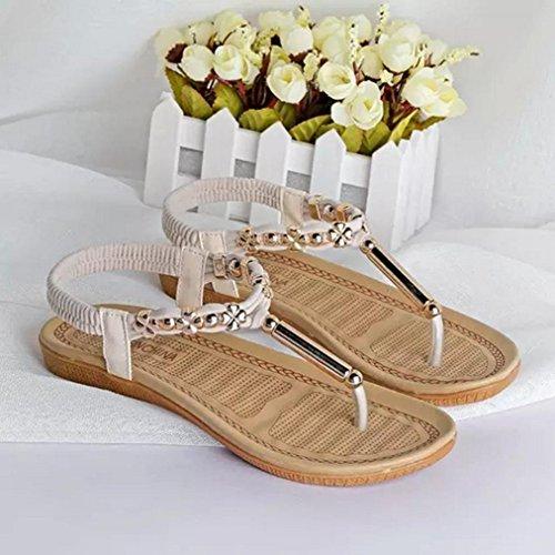 DM&Y 2017 scarpe delle donne piane perizoma bohemien primavera ed estate le scarpe del commercio estero White