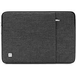 """NIDOO 14 Pouces Imperméable Housse Laptop Sleeve Protection Ordinateur Portable pour 13.5"""" Microsoft Surface Book / 14"""" Lenovo Chromebook S330 / 14"""" Dell Inspiron 5490 / Chromebook 14, Gris foncé"""